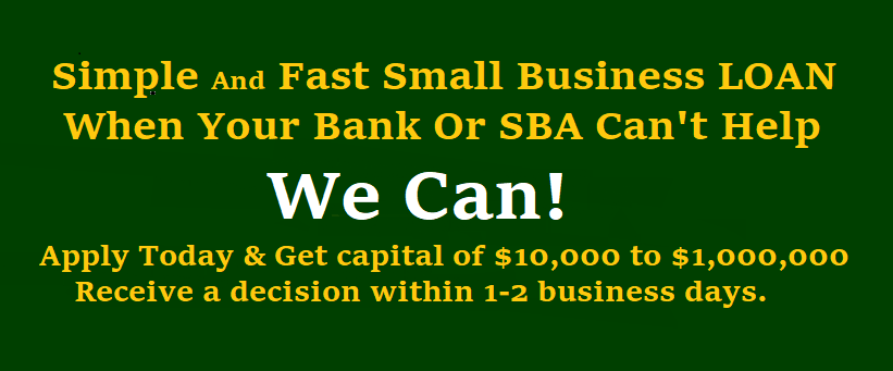 Small Business Loans - Equipment Financing
